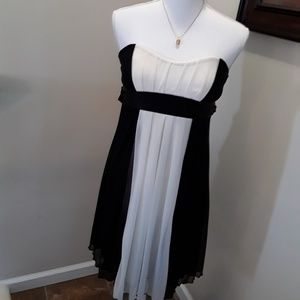 Charlotte Russe strapless party dress black ivory